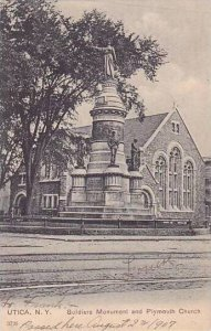 New York Utica Soldiers Monument & Plymouth Church