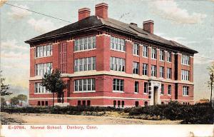 Normal School Danbury Connecticut 1909 postcard