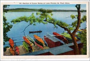 Canoe Racks, Lake Phalen, St Paul Minn