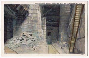 Underground Marble Quarries, West Rutland VT