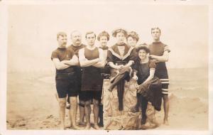 Atlantic City~Bathing Beauties~Seashell Rock~Beach Bums~Palace Studios~1912 RPPC