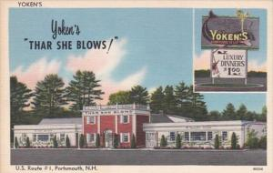 Hew Hampshire Portsmouth Yoken's Thar She Blows Restaurant