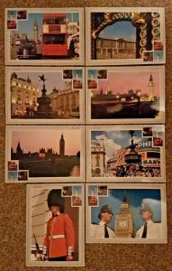Set of 8 Large Format Postcards of Famous London Icons and Landmarks NEW