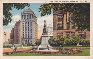 View On Memorial Plaza Saint Louis Missouri 1941