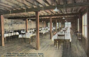 GOFFSTOWN , New Hampshire, 1909 ; Uncanoonuc Hotel , Dining Room