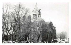 LPSS65 Savannah Missouri Andrew County Court House Postcard RPPC