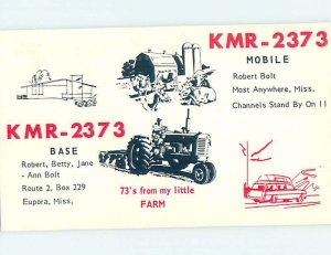 Pre-1980 RADIO CARD - Europa - Near Duck Hill & Starkville & Winona MS AH0981