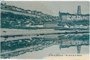 Ansichtskarten Schweiz VINTAGE POSTCARD: SWITZERLAND - GRUSS AUS: FRIBOURG 1907