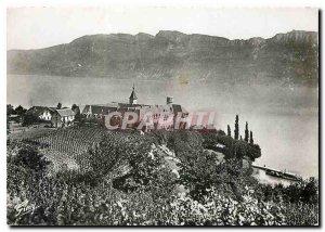 Modern Postcard Savoy Picturesque Lake Bourget Hautecombe Abbey
