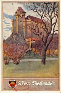 FESTE LIECHTENSTEIN AUSTRIA-ARTIST DRAWN 1941 POSTMARK POSTCARD