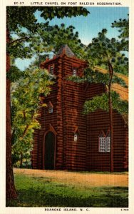 North Carolina Roanoke Island Little Chapel On Fort Raleigh Reservation