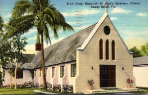 Florida Delray Beach St Paul's Episcopal Church 1951 Curteich