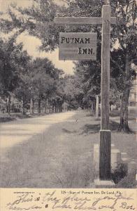 Sign of Putnam Inn, De Land, Florida, PU-1907