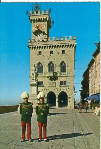 Republic of San Marino, Liberta Square, Piazza della Liberta, unused Postcard