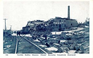 Canada - Nova Scotia, Halifax. December 6, 1917 Explosion. Oland's Breweries ...