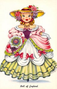 Toys/Dolls Post Card Doll of England Unused