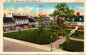 New Jersey Princeton Palmer Square and Tavern 1949 Curteich