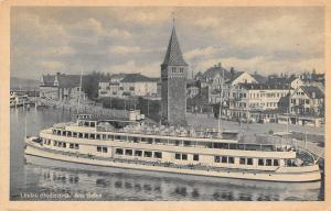 Lindau Bodensee Germany~Long Am Hafen Steamship~Tower~Postcard c1910