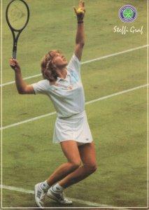 Steffi Graf German Tennis Superstar Wimbledon Lawn Postcard