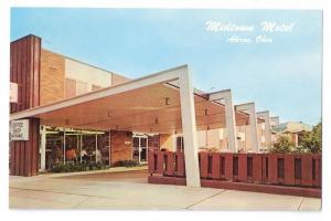 Midtown Motel Akron Ohio Postcard 1960's
