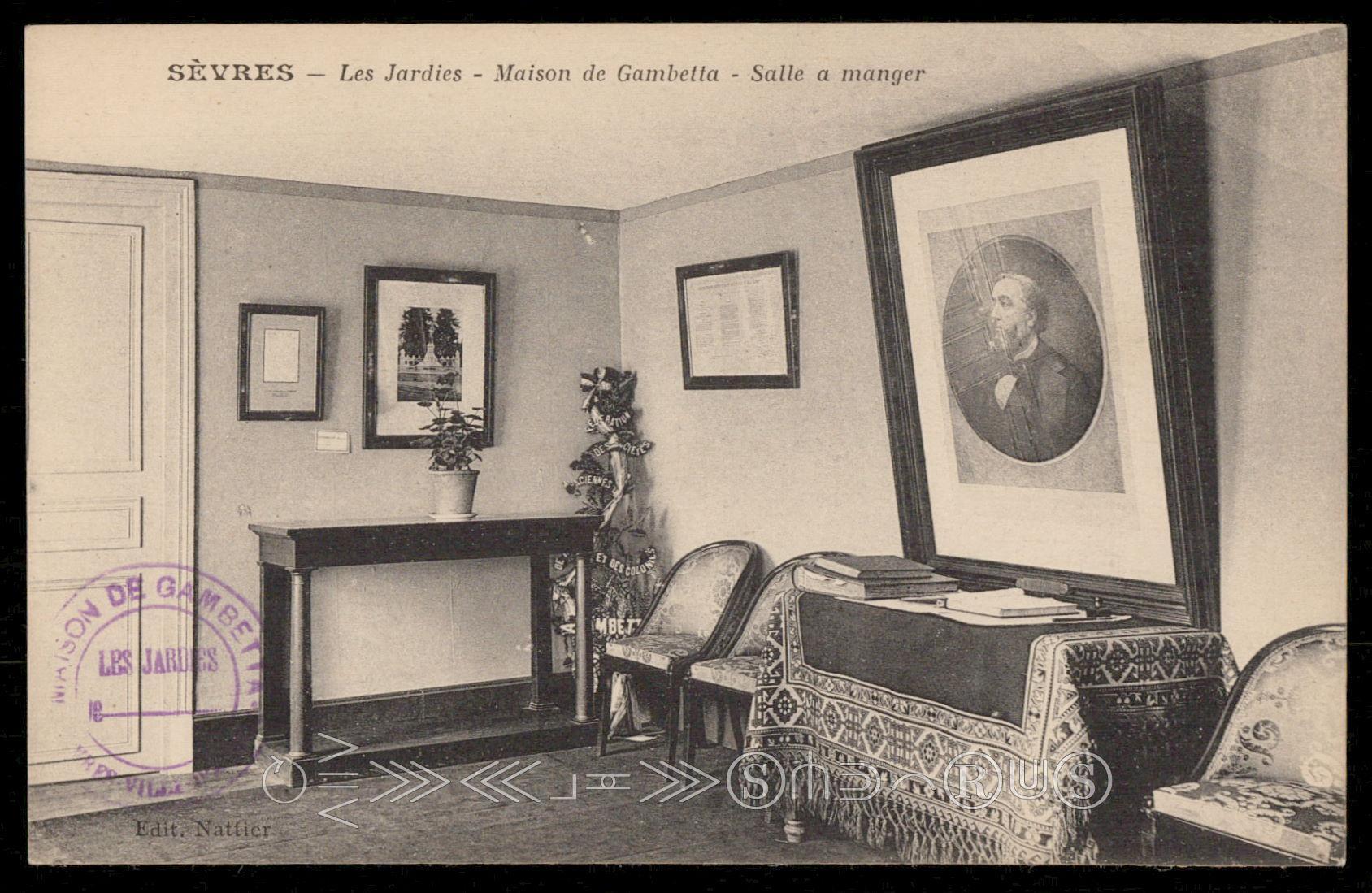 Sevres Les Jardies Maison De Gambetta Salle A Manger Hippostcard