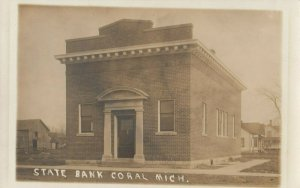 RP: CORAL , Michigan , 1900-10s ; State Bank