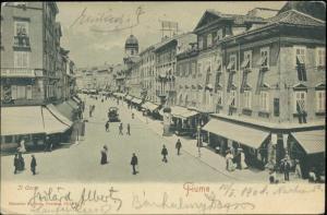 croatia, FIUME RIJEKA, Corso Korso, Gradski Toranj (1908)