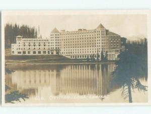 old rppc HOTEL SCENE Lake Louise Alberta AB W0861