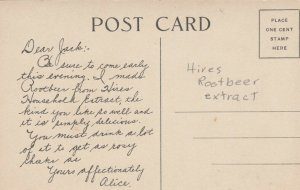 Alice , 00-10s ; Hires Rootbeer extract Ad Postcard