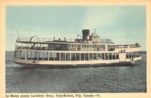 Trois-Rivières PQ Canada La Bateau passeur Laviolette -Ferry Postcard