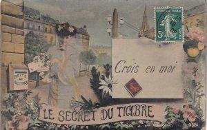 Le Secret Du Timbre Crois en moi, Flirty woman by mailbox, PU-1908