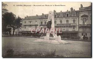 Old Postcard Laval War Memorial of the Great War Militaria