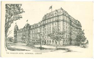 Canada, The Windsor Hotel, Montreal, 1954 used Postcard
