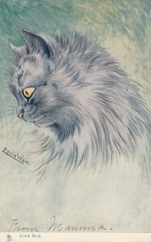 LOUIS WAIN Cat , Love Sick , 00-10s ; TUCK 1412