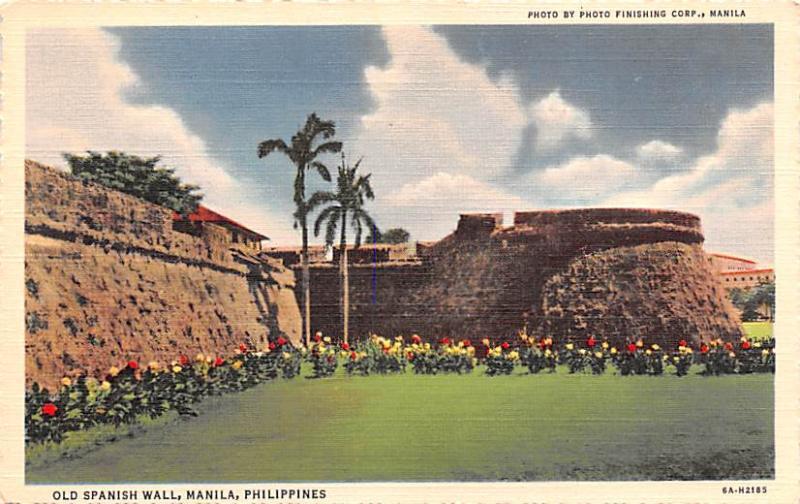 Manila Philippines Old Spanish Wall Manila Old Spanish Wall