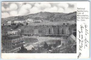 HOT SPRINGS, South Dakota  SD  National Sanitarium VALE OF MINNEKAHTA Postcard