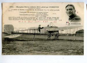 205302 FRANCE AVIATION Bleriot airplane pilot PERREYON #1664