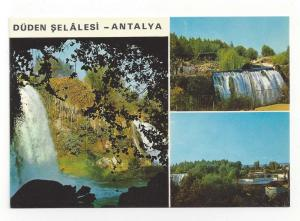 Turkey Antalya Duden Waterfalls Multiview Vtg Postcard 4X6