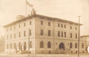 Rock Island Illinois~New Post Office~Billboard~1912 Real Photo Postcard~RPPC