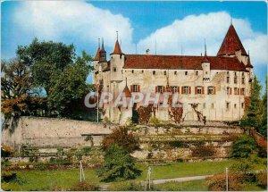 Modern Postcard Chateau d'Oron Izard Photo Prints Edition Switzerland Lausann...