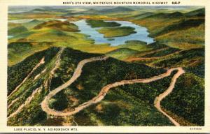 New York Adirondacks Lake Placid Birds Eye View Whiteface Memeorial Highway C...