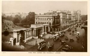 UK - England, London. Hyde Park Corner and Piccadilly    *RPPC
