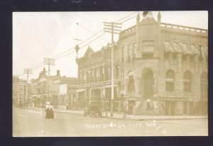 RPPC YORK NEBRASKA DOWNTOWN SQUARE STREET SCENE OLD REAL PHOTO POSTCARD