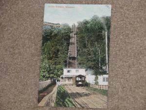 Incline Railway, Montreal, Canada, unused vintage card