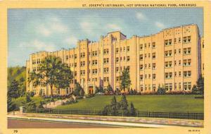 Hot Springs National Park Arkansas~Saint Joseph's Infirmary~1933 Postcard