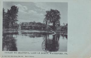 Outlet To Beautiful Lake Le Boeuf, Waterford, Pennsylvania, PU-1907