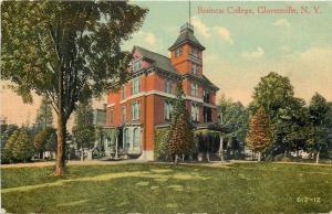 Gloversville New York~Business College~Victorian School Building~1914 Postcard