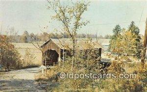 Covered Bridge Vintage Postcard Nashville, IN, USA unused