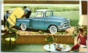 Vintage 1950s GMC TRUCKS 100 SERIES Postcard Car Automobile Advertising Unused