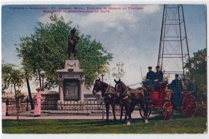 Fire Monument & Horse Drawn Engine, St Joseph MI